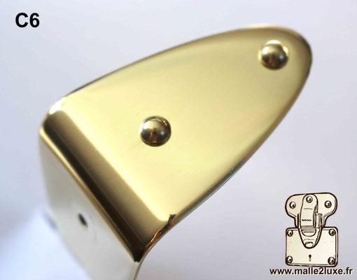 Clou tête bombée laiton massif 6mm malle de luxe