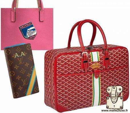 personnalisation maroquinerie Louis Vuitton Goyard Moynat