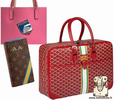 customization of leather goods Louis Vuitton Goyard Moynat