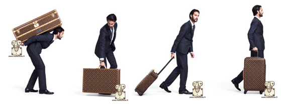 old and new suitcase Louis Vuitton
