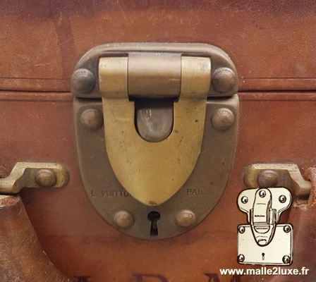 Louis vuitton leather suitcase lock