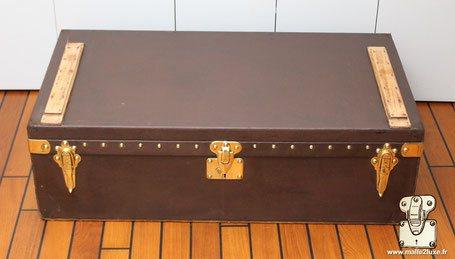 Malle automobile Louis Vuitton vuittonite marron
