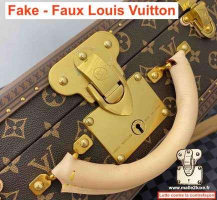 Louis Vuitton counterfeit trunk lock