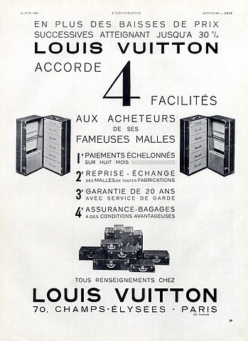 ancienne publicité louis vuitton 4 solution garantie