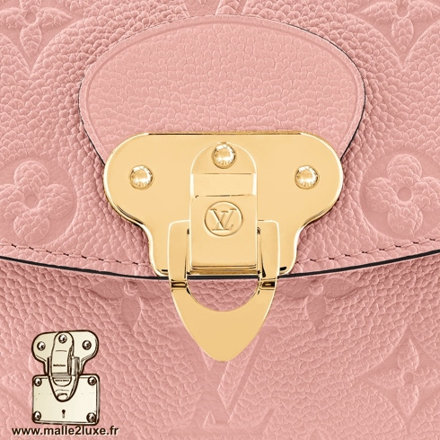 Serrure sac georges Vuitton rose
