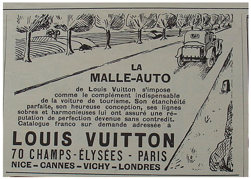 sur la route des malle automobile louis vuitton