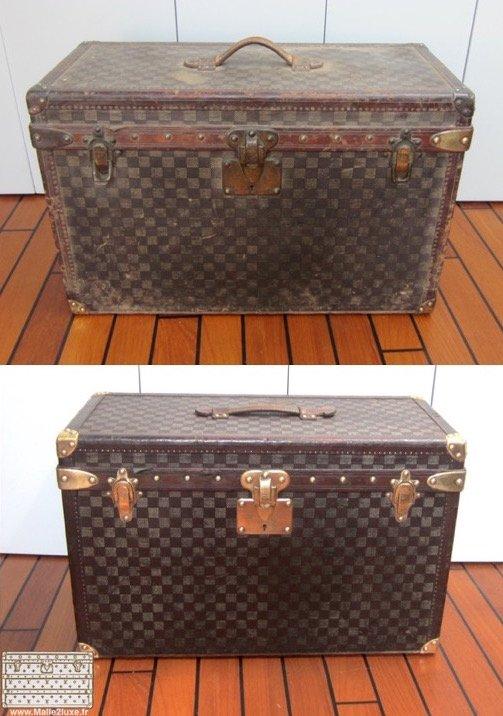 Restauration d'une petite boite Louis Vuitton