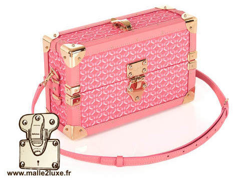 mini malle sac a main tendance it trunk pinel & pinel rose
