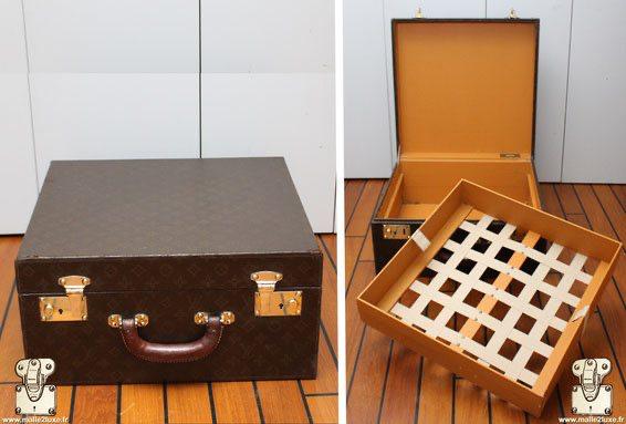 serrure poussoir valise Louis Vuitton valise a chapeau ancienne