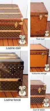 serie finition malle ancienne louis Vuitton
