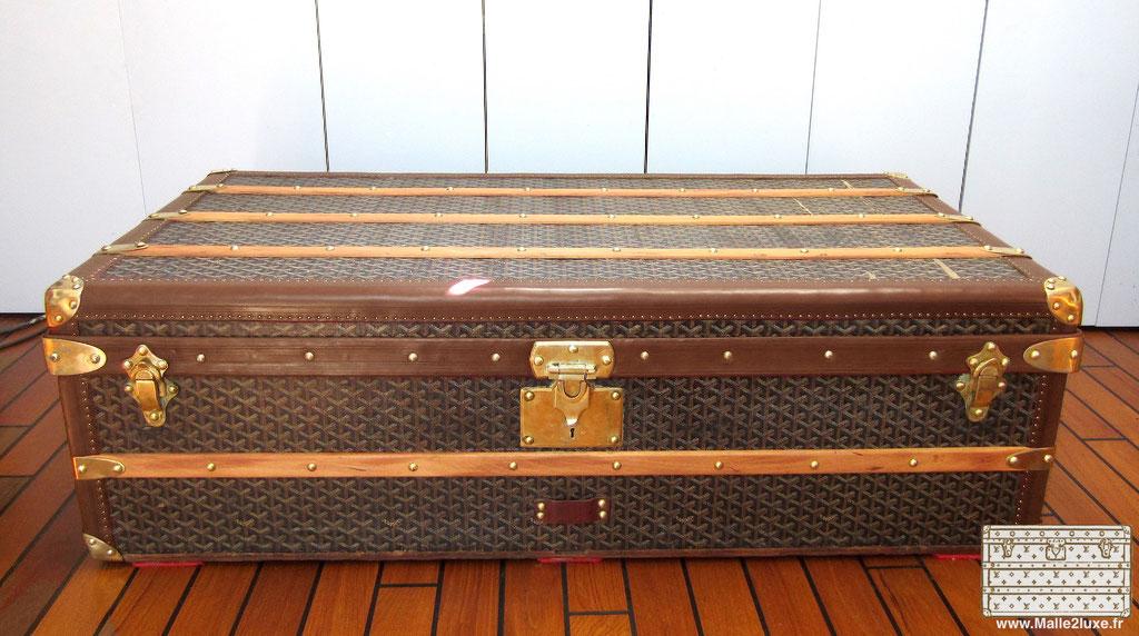 Old restored goyard cabin trunk