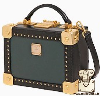 mini malle mcm berlin petite trunk sac a main couleur