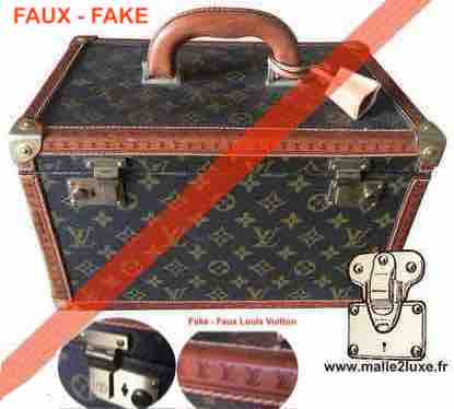 fake valise louis vuitton non authentique vanity