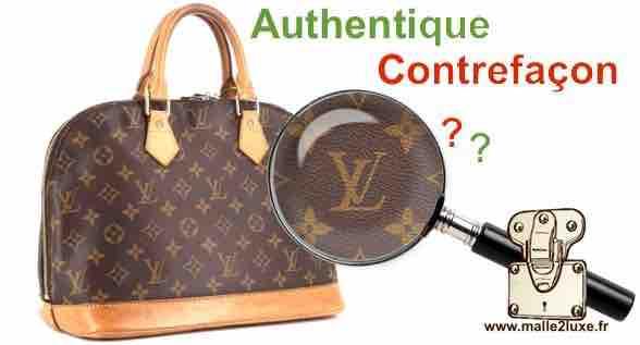 87129cb8f01a Faux et Contrefaçon reconnaitre les authentiques - Malle Louis Vuitton