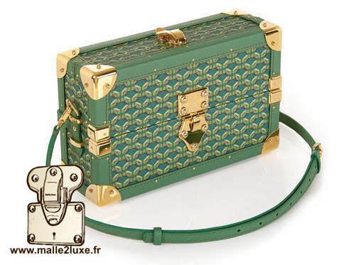 mini malle sac a main tendance it trunk pinel & pinel vert