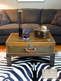 trunk Louis Vuitton decoration alzer table