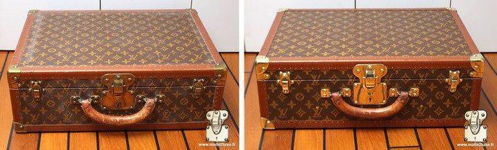 prix valise vuitton   Enjolivement par retrait des boursouflures toile sérigraphiée