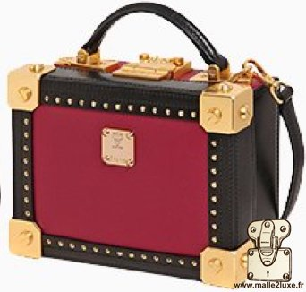 mini malle mcm berlin petite trunk sac a main couleur femme