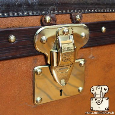 Parfait polissage serrure bagage ancien louis vuitton