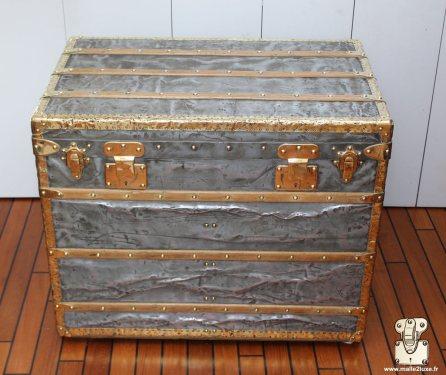 brass and zinc vuitton trunk