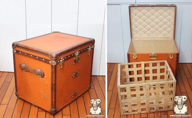 Malle a chapeau carré Louis Vuitton vuittonite orange