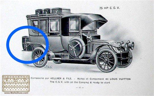 Malle automobile Rouge Louis Vuitton 1906