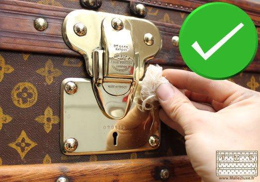 Secret d'un parfait polissage laiton trunk louis vuitton