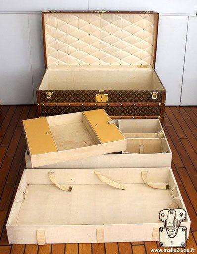 Interieur malle courrier louis vuitton exceptionnel malle de luxe