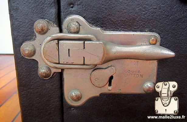 Nickel-plated automobile lock for old Louis Vuitton automobile trunk