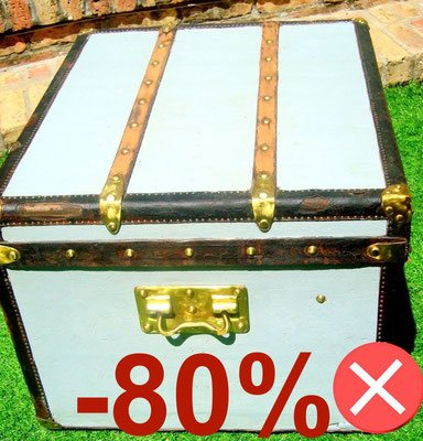 repainted Louis Vuitton canvas trunk Trianon