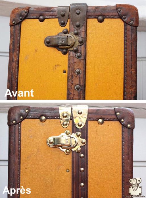 restauration cuir malle ancienne vuitton prix achat