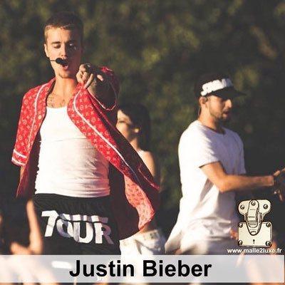 Justine Bieber aime les malles louis vuitton