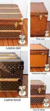 antique Louis Vuitton trunk finish series
