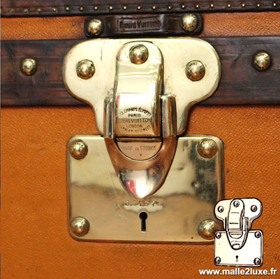 Louis Vuitton patent filing old trunk lock orange