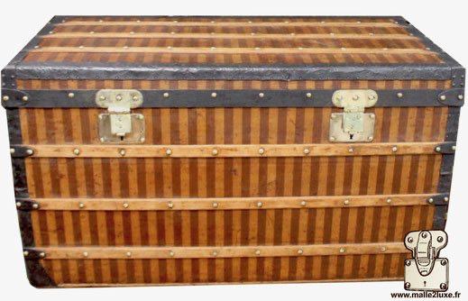 Louis Vuitton superb stripe mail trunk