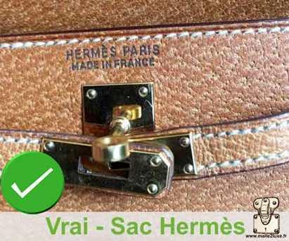marquage naturel - Cuir de porc - Hermès des années 1980