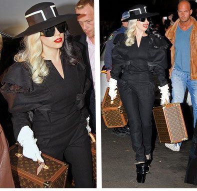 Lady gaga louis vuitton stars vanity and suitcase vuitton bottle box