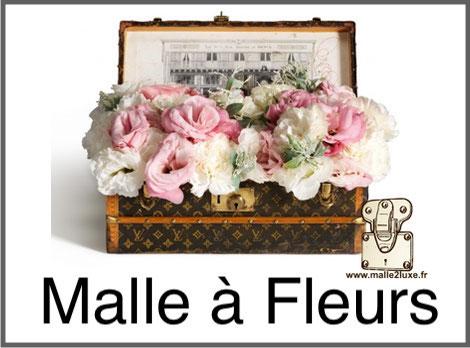 Malle à fleurs Louis Vuitton