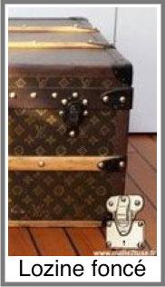 Malle Louis Vuitton lozine foncée