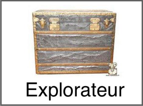 Malle explorateur Louis Vuitton zinc cuivre aluminium laiton