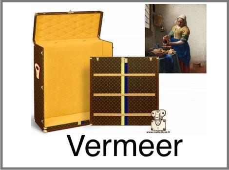 Malle a tableau Vermeer la jeune fille a la perle Louis Vuitton