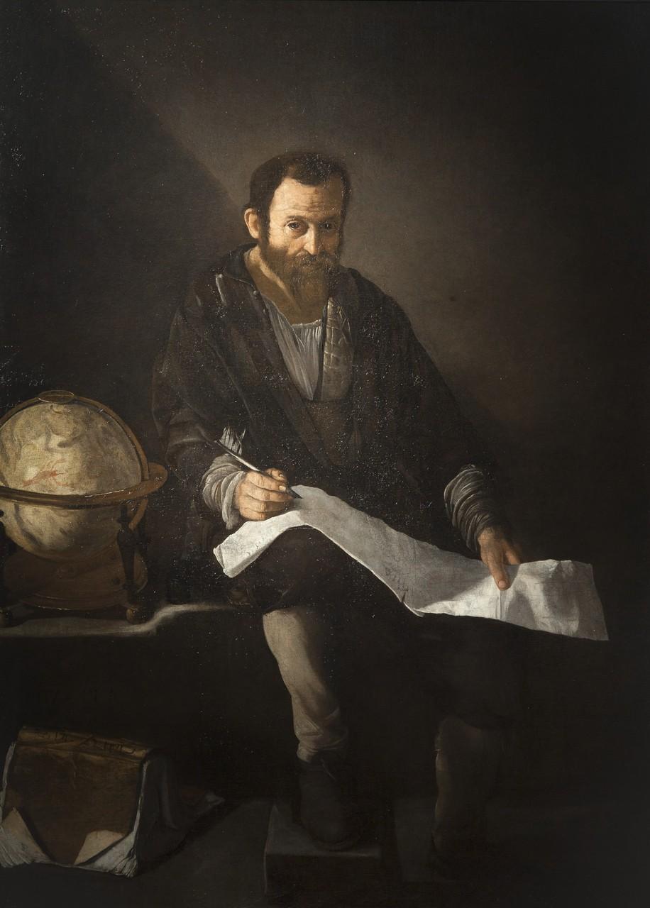 Ecole napolitaine XVIIe siècle, L'astronome, huile sur toile, © D.Sohier