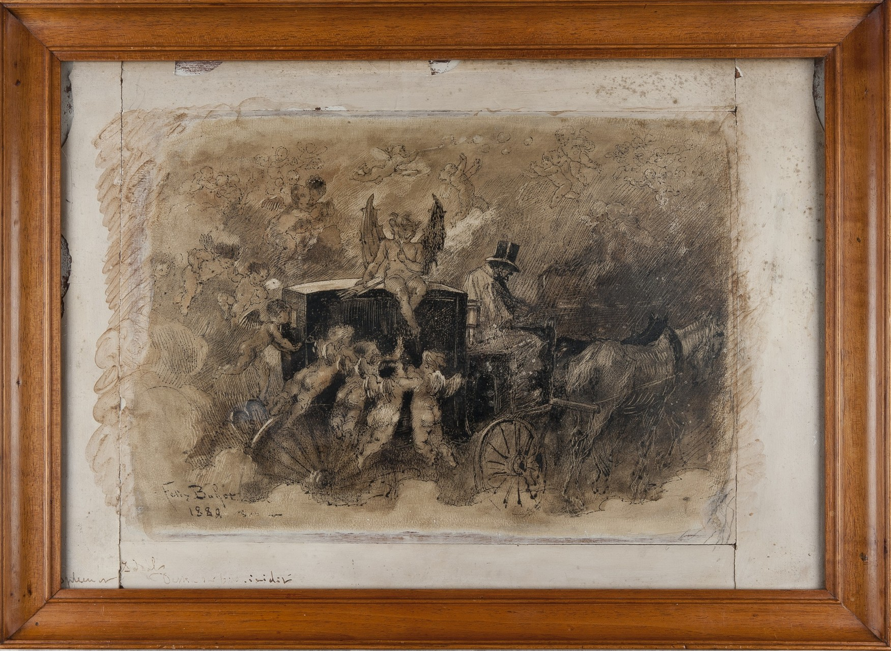 Félix Buhot, Spleen et idéal, lavis sur bois, 1880,  © Claire Tabbagh