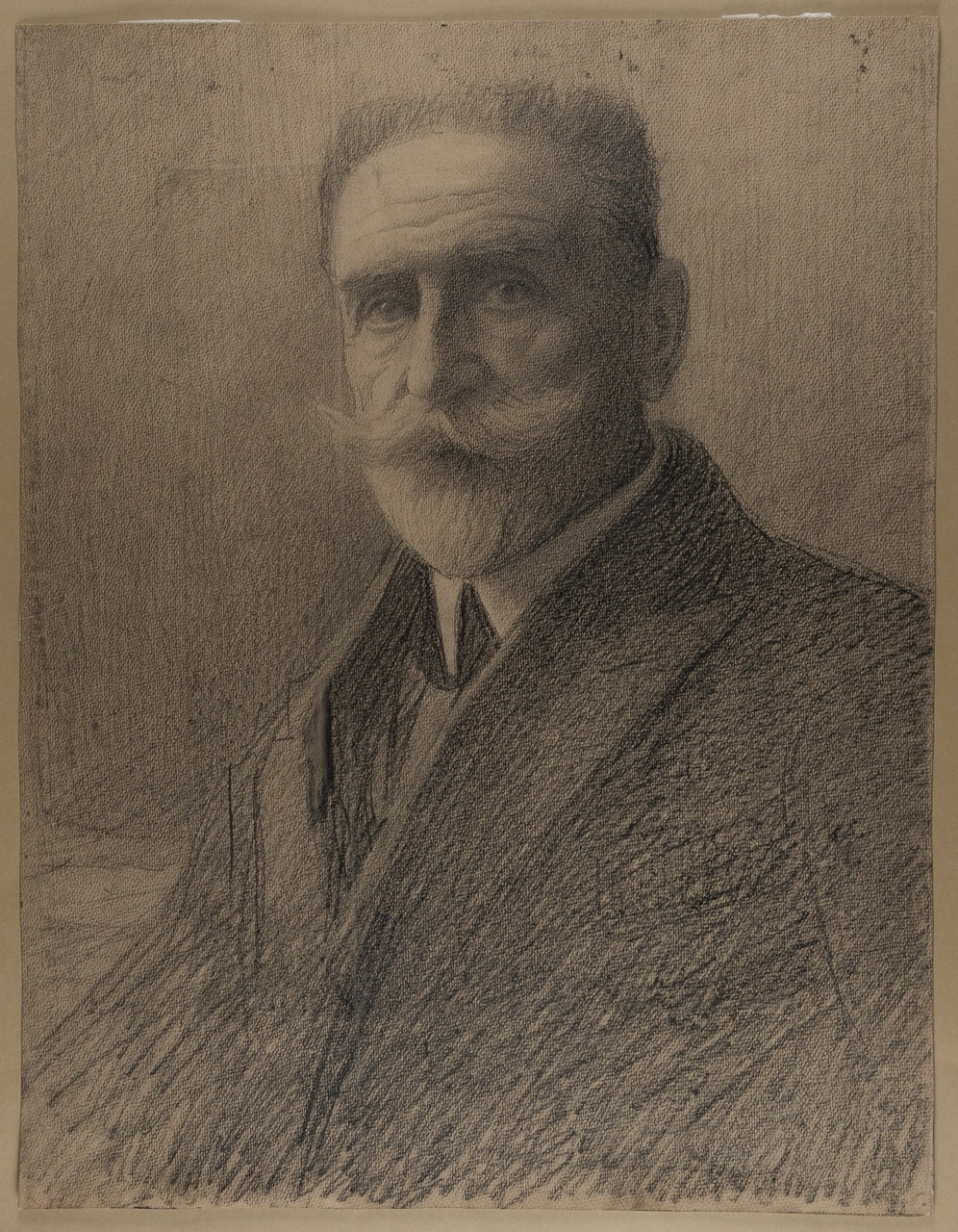 Lucien Goubert, Portrait d'Albert Mahieu, dessin, © Claire Tabbagh