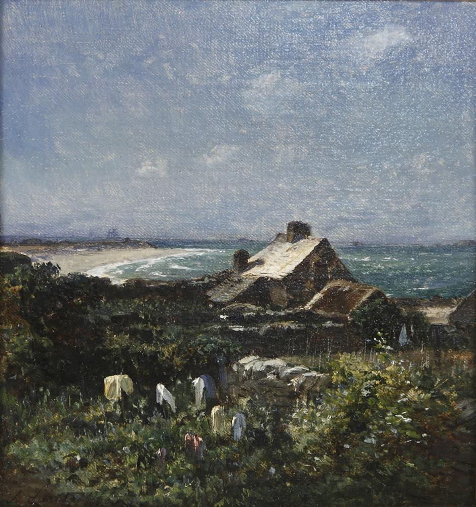 Armand Fréret, La rade de Cherbourg, huile sur toile, 1866, © D.Sohier