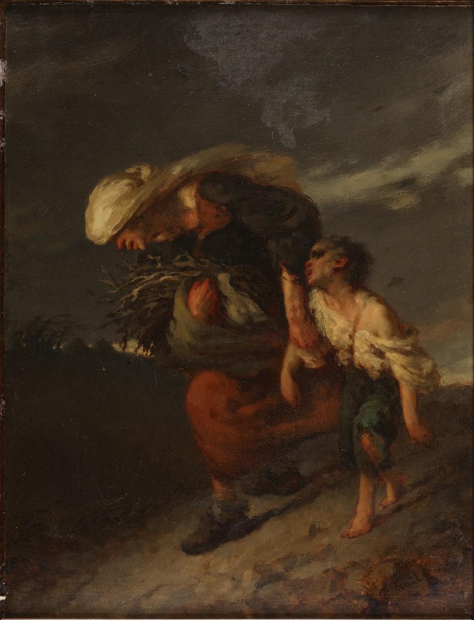 Jean-François Millet, L'Orage, huile sur toile, vers 1847,  © D.Sohier