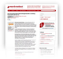 """Preview-Grafik: """"Pressemitteilung OPENBROADCAST / Gebrauchtwagen kaufen in Hamburg"""""""