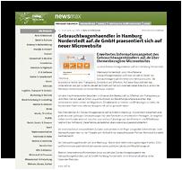 """Preview-Grafik: """"Pressemitteilung NEWSMAX / Gebrauchtwagen kaufen in Hamburg"""""""