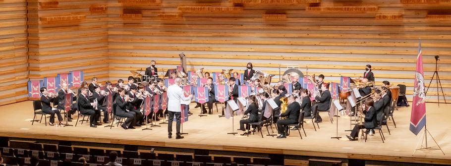 ブリティッシュブラスバンド(英国式)であり大阪で活動するジャパンシンフォニーブラスのリハーサル風景
