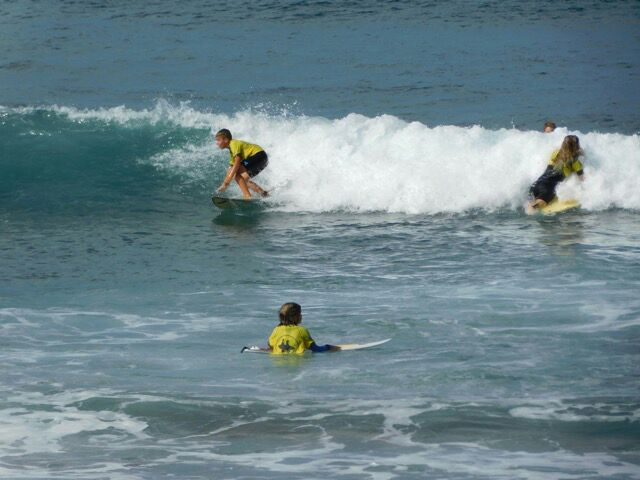 Surf Club Groms at training